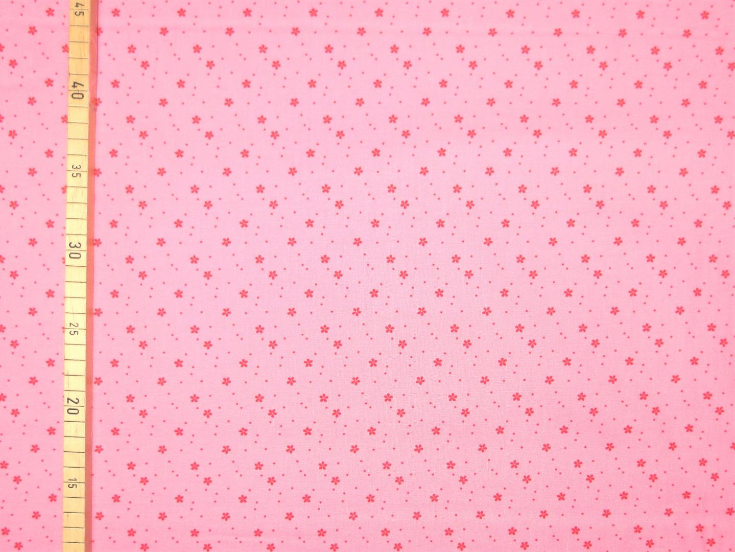 Baumwollstoff Blümchen EUR/m rosa-rot Westfalenstoffe 100