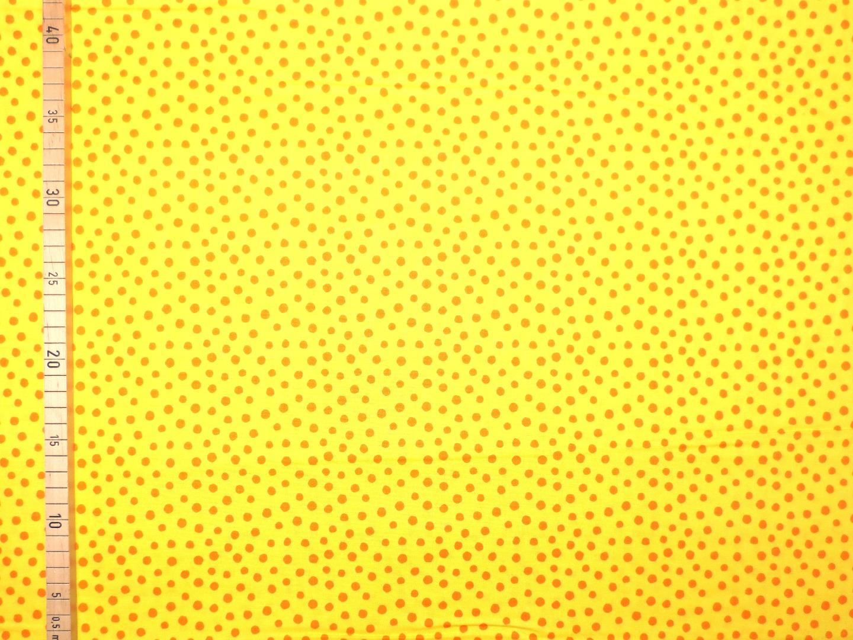 Baumwollstoff Punkte gelb Westfalenstoffe 100 Baumwolle