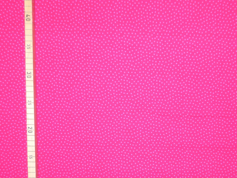 Baumwollstoff Pünktchen pink-rosa Westfalenstoffe 100 Baumwolle