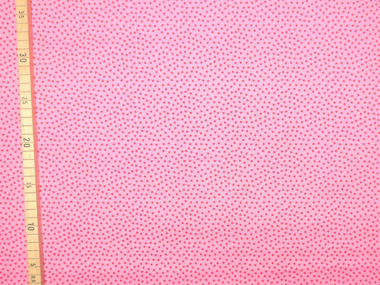 Baumwollstoff Pünktchen EUR/m rosa-rot Westfalenstoffe 100