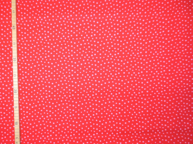 Baumwollstoff Punkte EUR/m rot-rosa Westfalenstoffe 100