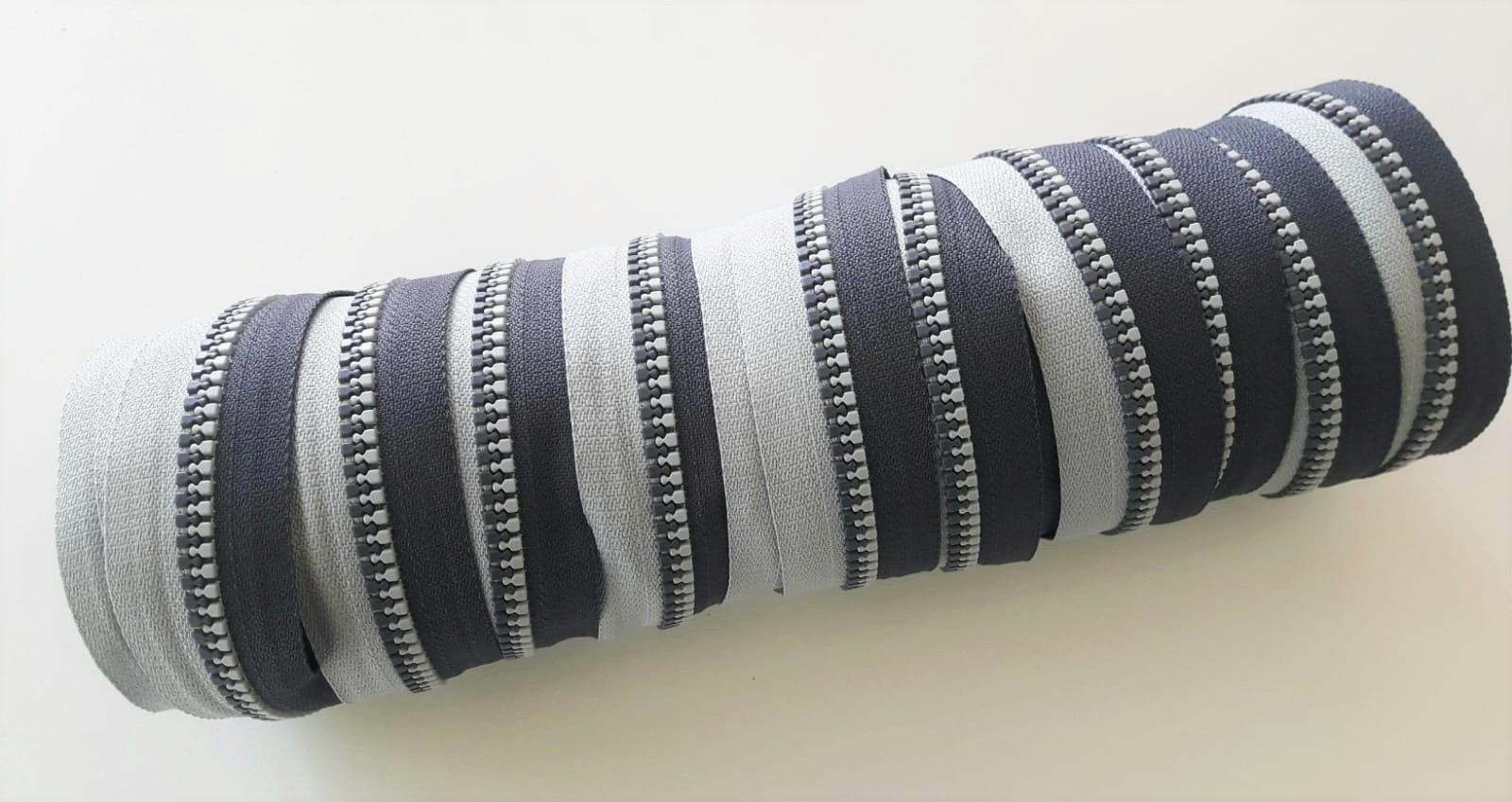 EP hellgrau/dunkelgrau Endlos-Reißverschluss 20 cm