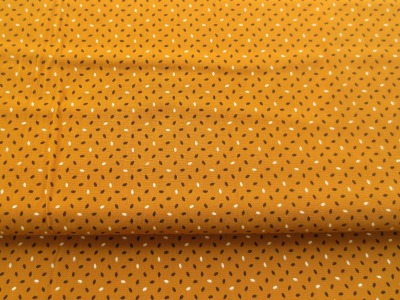 Baumwollstoff - senfgelb- 100 Baumwolle -