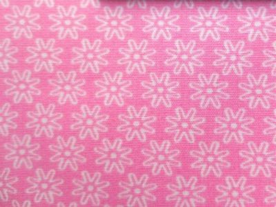 Stoff Blumen rosa - 100 Baumwolle