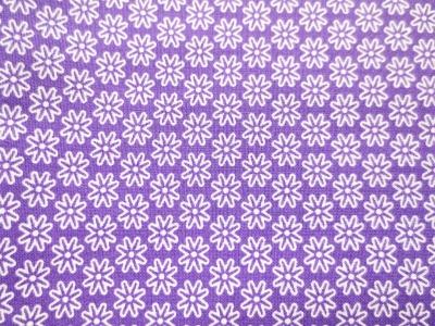 Stoff Blumen lila - 100 Baumwolle