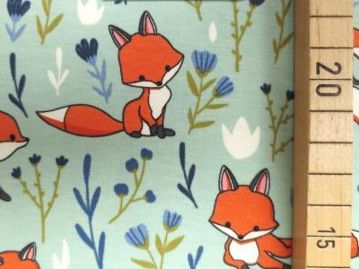 Jersey Fuchs - mint - Fuchsstoff