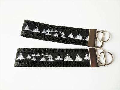 Pfadfinder Schlüsselband in schwarz Webband schwarz