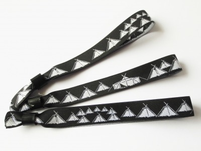 Pfadfinder Festivalarmband schwarz