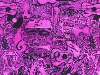 Stoff Instrumente - Baumwolle - pink