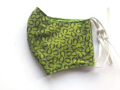 Behelfs-Maske Hufeisen -100 Baumwolle mit Gummis