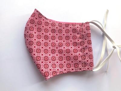 Behelfs-Maske Blümchen rosa -100 Baumwolle mit