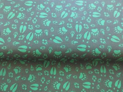 Stoff Tierspuren 100 Baumwolle grün Patchwork