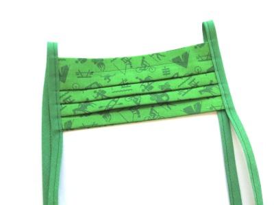 Behelfs-Maske Camping grün -100 Baumwolle mit