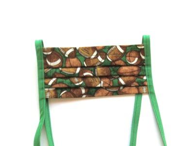Behelfs-Maske Football grün 100 Baumwolle mit