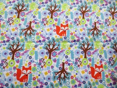 Baumwolle Fuchs im Wald cm Reststück