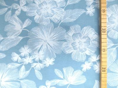 Jersey Blumen - hellblau