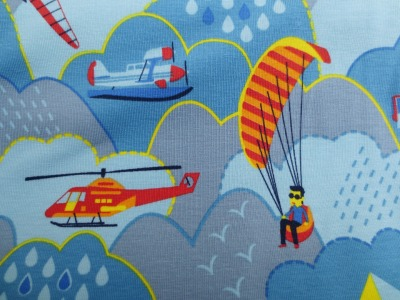 Jersey Alles fliegt Flugobjekte blau gelb