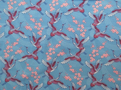 Jersey Kraniche - hellblau- Kirschblüten -