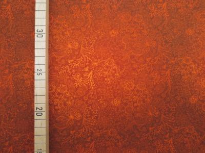 Jersey Blumen - orange - Spotlight