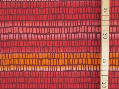 Jersey Streifen Blaubeerstern SquaresNStripes rot orange