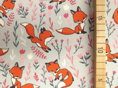 Jersey Fuchs - grau - Fuchsstoff