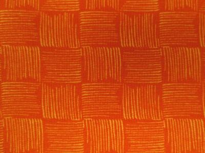 French Terry Karos Orange gestreifte Karos