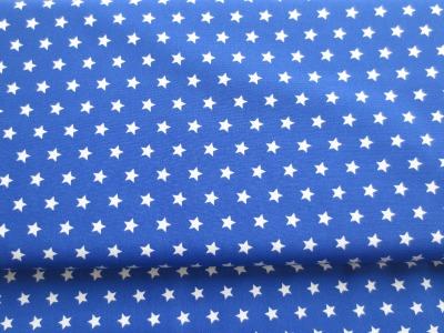 Stoff Sterne - royalblau - 100