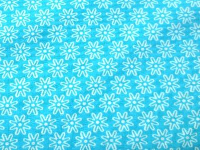 Stoff Blumen türkis - 100 Baumwolle