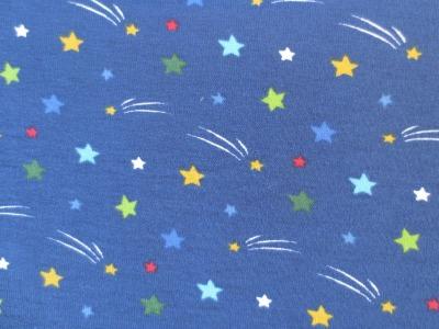 Jersey Sterne - blau - Sternschnuppen