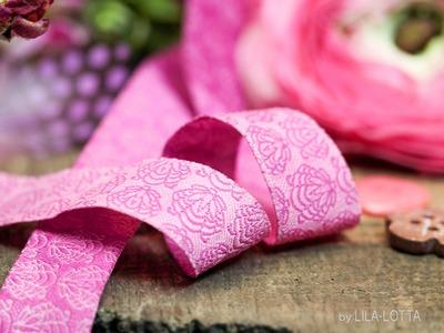 Webband Blume rosa Donna Fiona beere