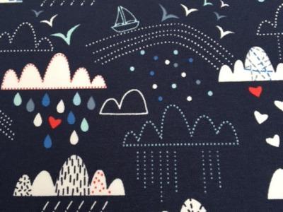 Jersey Heiter und wolkig dunkelblau Blaubeerstern