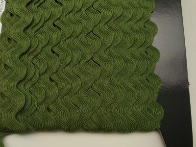 Zackenlitze oliv 17 mm