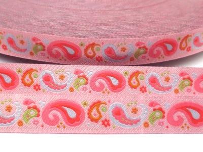 Webband Paisley rosa