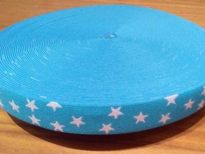 Gummiband Sterne hellblau