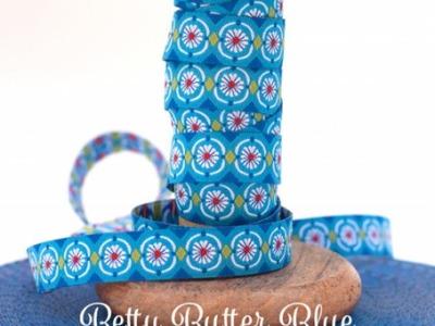 Webband Blumen - Betty Butter -