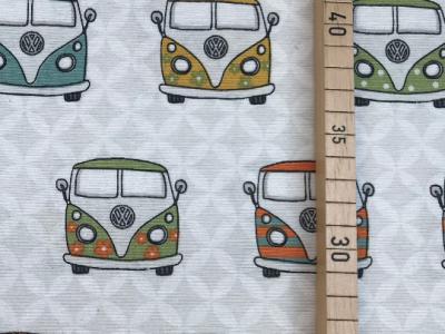 Deko-Baumwolle - VW Bus - Frontansichten