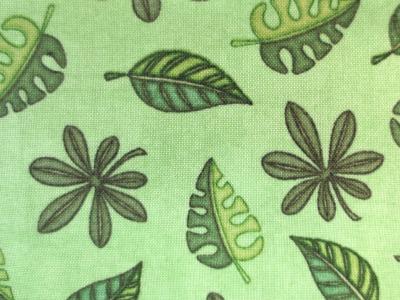 Blätter - Baumwolle - grün -
