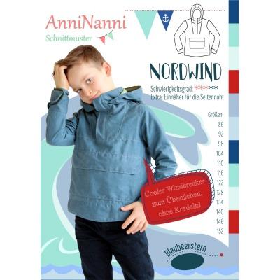 Nordwind von AnniNanni Papierschnittmuster Blaubeerstern Kids