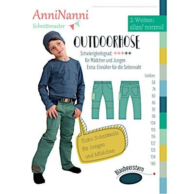 Outdoorhose von AnniNanni Papierschnittmuster Blaubeerstern Kids