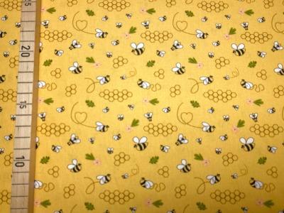 Stoff Bienen gelb 100 Baumwolle Patchwork