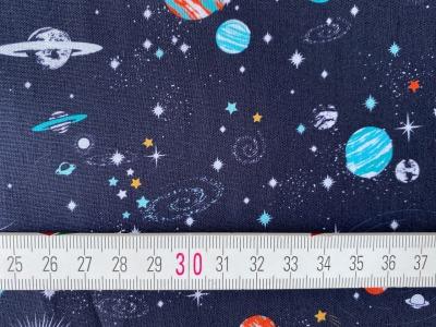 Stoff Planeten nachtblau 100 Baumwolle Patchwork