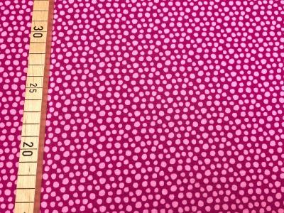 Bio Jersey unregelmäßige Punkte - beere/rosa