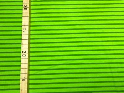 Jersey Ringel - Streifen - hellgrün/dunkelgrün