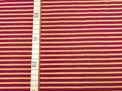 Jersey Ringel - Streifen - rot/gelb