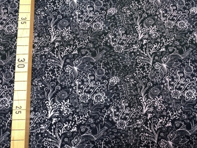 Jersey Blumen - schwarz - Spotlight