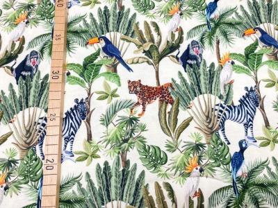 Jersey Dschungel rohweiß Vögel Zebra Affe