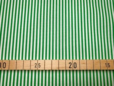 Stoff Streifen weiß/grün 100 Baumwolle Patchwork