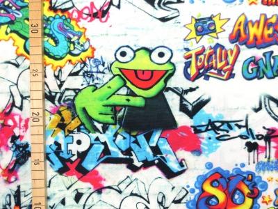 Baumwollstoff Graffiti - 100 Baumwolle