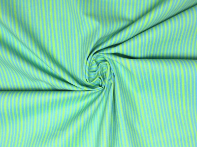 Baumwollstoff Streifen hellblau/hellgrün Westfalenstoffe 100 Baumwolle