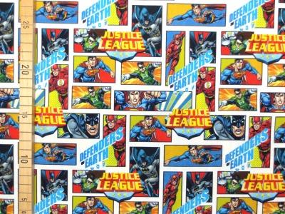 Superhelden Stoff Justice League 100 Baumwolle